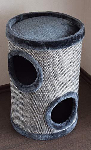 Lemio – Katzentonne Graycys Kratzbaum Katzenbaum Kratztonne 50cm hoch – Möbel für Katzen Spieltonne