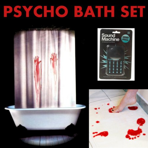 Amazon.com: Horror Bathroom Set   Bloody Bath Mat U0026amp; Shower Curtain AND  Horror Sound Machine: Home U0026 Kitchen