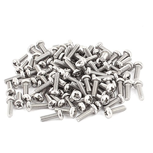 uxcell M3 x 10mm Round Head Phillips Screws 100pcs for DVD-ROM Motherboard