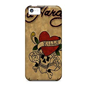Wilsongoods66 LDL8980sswh Cases For Iphone 5c With Nice Ed Hardy 3 Appearance