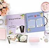 Unique 1st to 50th Wedding Anniversary Memory Book with Stickers and A Matching Card - 5-Second Journal For Your Special Anniversary - The Perfect Keepsake Booklet for Special Memories