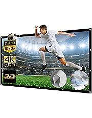 150 Inch Projectorscherm Opvouwbaar Gigantisch Full HD 3D 4K 16: 9 Projectiescherm Vrijstaand Projectorscherm Wasbaar Projector Achtergrond voor Meeting / Home Cinema / Outdoor (337x194cm)