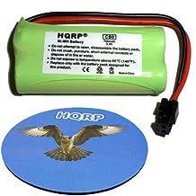 HQRP Phone Battery for Uniden BT-1021, BT1021, BT-1016 BT1016, BT-1025 BT1025, BT-1002 BT1002 Replacement plus Coaster