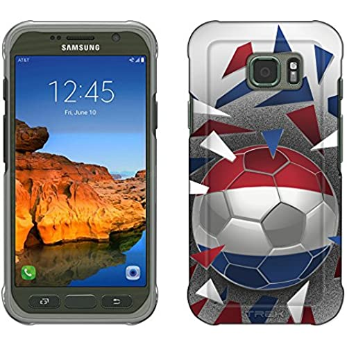 Samsung Galaxy S7 Active Case, Snap On Cover by Trek Soccer Ball Netherlands Slim Case Sales