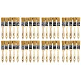 Tools & Hardware : Artlicious 40 Pack of 1 inch Pure Hog Bristle Chip Paint Brushes