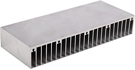 FemiaD Silver Tone Aluminum Cooler Radiator Heat Sink Heatsink 150x25x19mm