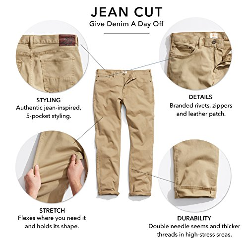 order original fast color Dockers Men's Jean Cut Stretch Straight Fit Pant: Amazon.in ...