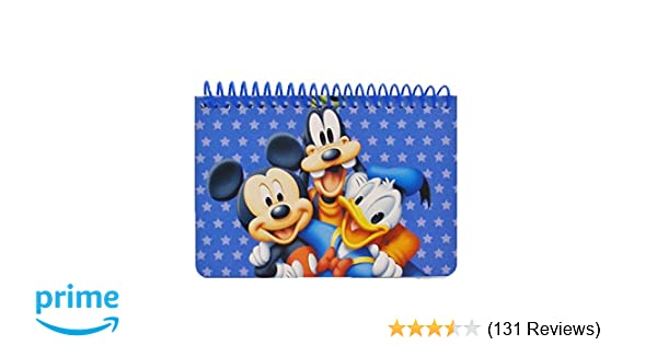 cb516f520a Amazon.com  Disney Mickey Mouse and Friends Spiral Autograph Book - Blue   Toys   Games