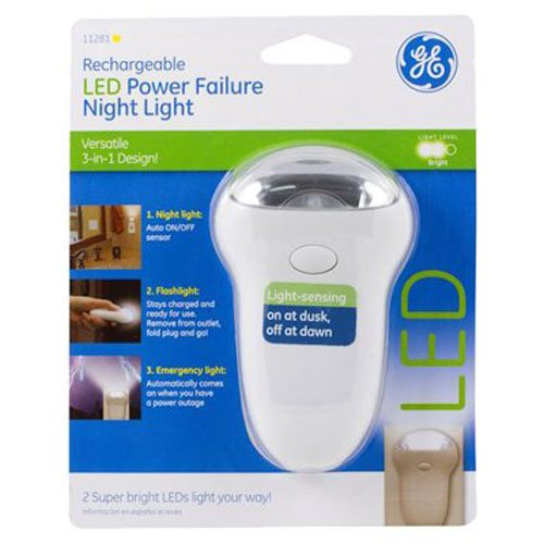 GE Rechareable LED Power Failure Night Light, 3-in-1, 11281 (Ge Portable Light compare prices)