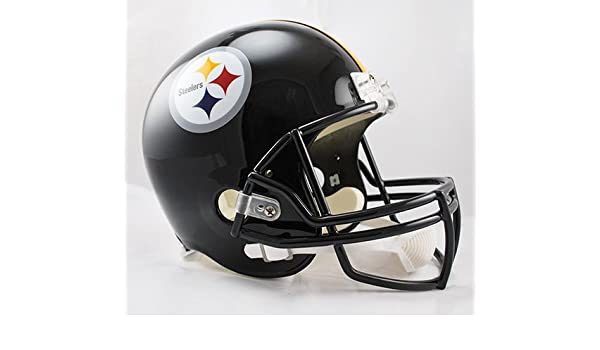 7f6599f5 Football Helmets Pittsburgh Steelers Riddell Full Size Deluxe Replica  Football Helmet Creative Sports