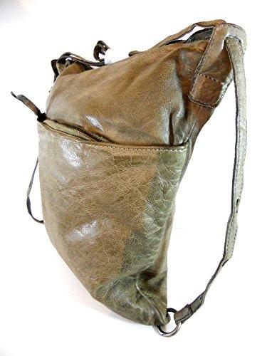 Taschendieb Schultertasche, Antikleder olive, TD 0263