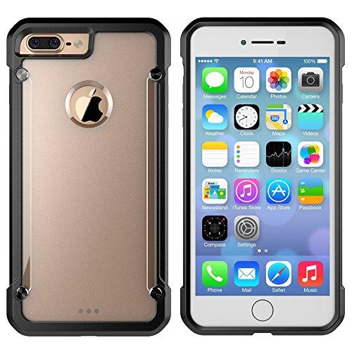 iPhone 7 Plus Case, Moonmini Hybrid Armor Trans...