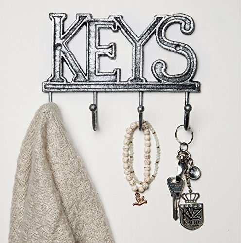 Key Holder - Keys - Wall Mounted Key Hook - Rustic Western C