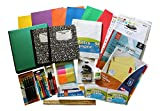 Over 60 Count School Supply Bundle for Middle,High School,College - Binder,Mechanical Pencils,Sharpie Markers,Hi-Liters,Folders,Composition Books,Paper,Sheet Protectors, Index Cards,Wite Out And More