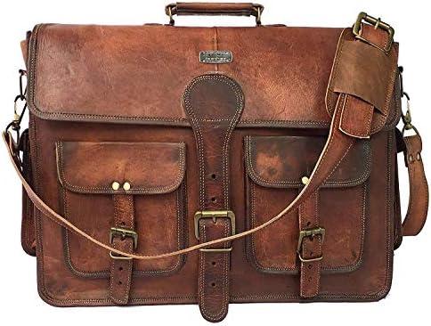 Handcrafted Men Messenger Bag Laptop Crossbody Bag for men full grain leather messenger Brown LEATHER MESSENGER  BRIEFCASE bag