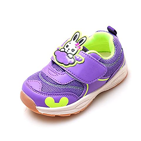 Unisex-Child Casual Functional Shoes Breathable Mesh Sneakers Convenient Velcro for 1-3Years Boys' Purple (Tennis Big Time Rush)
