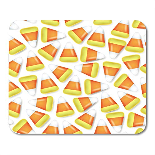 Nakamela Mouse Pads Dessert Orange Autumn Candy Corn Sweets Halloween Symbol Yellow Celebration Festive Mouse mats 9.5
