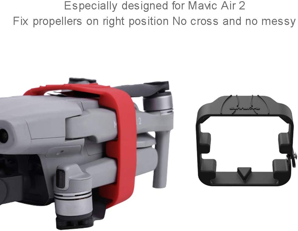 Owoda Mavic Air 2 Propeller Holder Black Props Stabilizer Paddle Silicone Protective Cover Blade Fixed Clip Propeller Fixator for DJI Mavic Air 2 Accessories