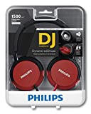 Philips DJ Headphone High Power Bass Headset Red Authentic