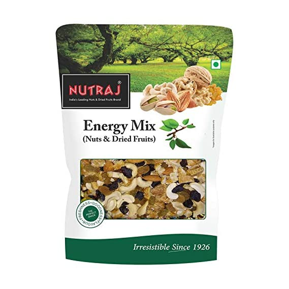 Nutraj Energy Mix 450g (Mixed Dry Fruits - Almonds, Raisins Round, Black Raisins, Cashew Nuts & Dry Dates)