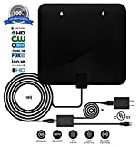 #8: Digital Antenna,TV antenna for digital tv indoor,2018 Best HDTV Antenna with UL Power Adapter, 60+ Miles HD Antenna 1080P 4K Freeview Antenna With 10+3ft Coax Cable & Detachable Signal Booster