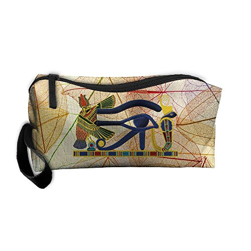 Roomy Cosmetic Bags With Zipper For Travel Eye Of Horus 10 Portable Ladies Hand Bag