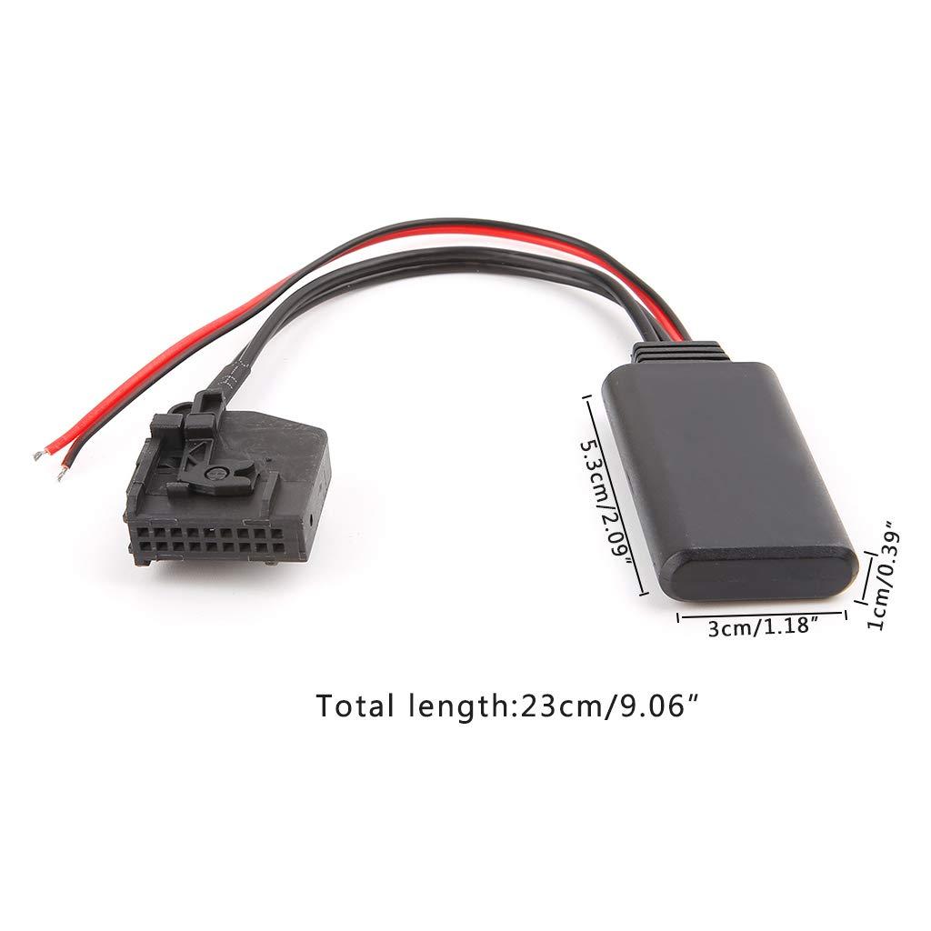 JENOR C/âble adaptateur r/écepteur auxiliaire Bluetooth pour Mercedes Benz W203 W209 W211 Radio st/ér/éo CD Comand 2.0 APS