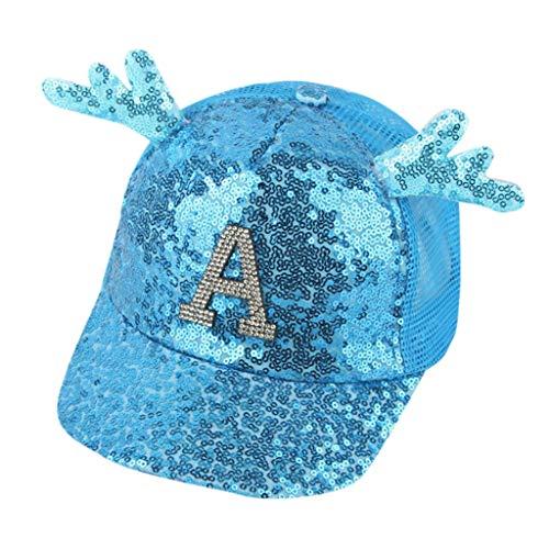 hositor Baseball Cap, Summer Parent-Child Baby Children Student Paillette Hat Baseball Cap Sunhat
