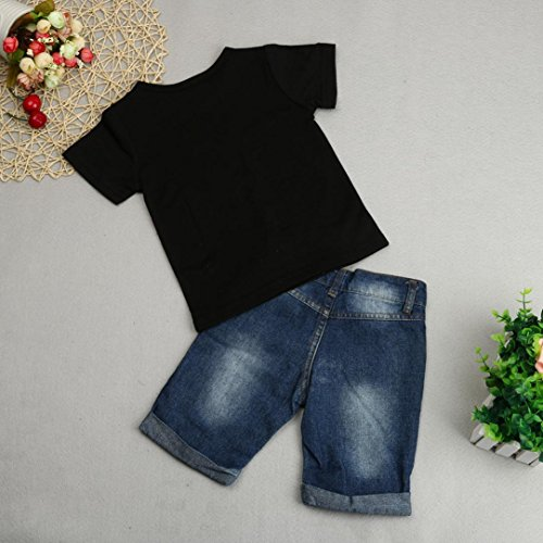 81c0078f811f Boldcat 2018 Summer 2PCS Toddler Kids Baby Boys Outfit Clothes T-Shirt Tops +Denim