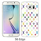 Louis-Vuitton-Patterns-On-White-Background White Case with Fashion and Luxurious Design for Custom Samsung Galaxy S6 Edge