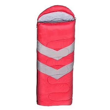 F Fityle Saco de Dormir de Acampada Single Doble Sobre Familiar Ultraligero Camping Excursiones Verano Compacto - Rojo: Amazon.es: Deportes y aire libre