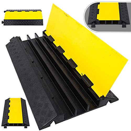 Happybuy 3-Channel Rubber Cable Protector Ramp 2