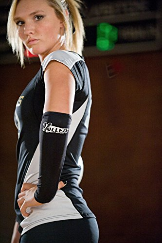 Volleze Libero Extended Volleyball Passing Sleeves - Padded (Black) - Tandem Volleyball Passing Sleeves