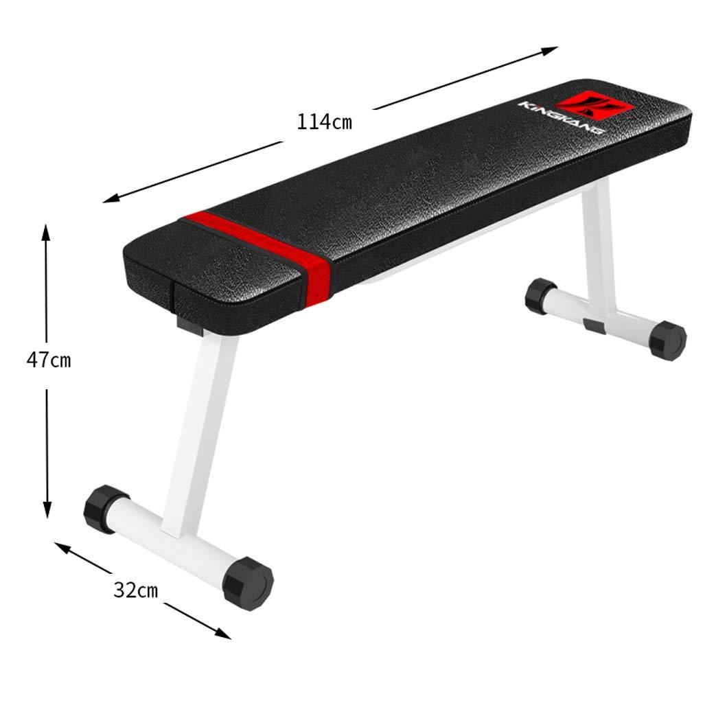 DLT Hantelbank, Flache Workout Bar Preacher Curl Bank mit Gewichten zu Hause Ausrüstung, Olympic Weight Bench, Sit Up AB Bank