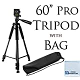 "60"" Pro Series Professional Camera Tripod for Canon, Nikon, Sony, Samsung, Olympus, Panasonic & Pentax + eCost Microfiber Cloth"
