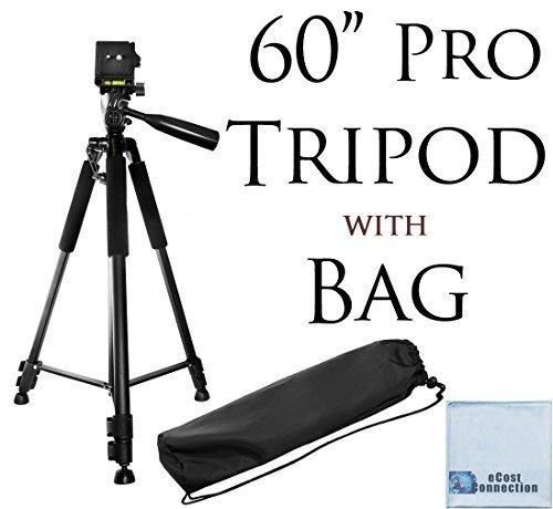 60-Pro-Series-Professional-Camera-Tripod-for-Canon-Nikon-Sony-Samsung-Olympus-Panasonic-Pentax-eCost-Microfiber-Cloth
