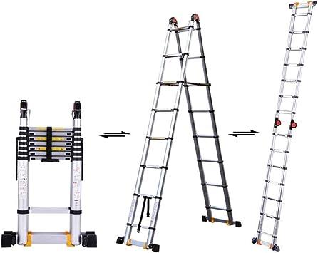 Extensibles Escalera de extensión telescópica Escalera multiusos de aluminio, con certificación EN 131 Capacidad de 330 lb 6 tamaños (Size : 3.35m(11ft)): Amazon.es: Bricolaje y herramientas