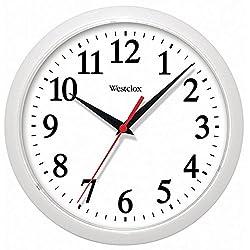 Westclox 461761 Basic Wall Clock, 10, White