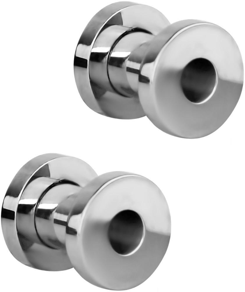 Set of 4G Surgical Steel Ear Gauges Screw Fit Tunnels, 4 Gauge Tunnel Plug Earrings