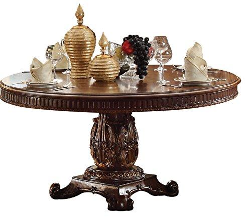 ACME Furniture 62020 Vendome Pedestal Dining Table, Cherry
