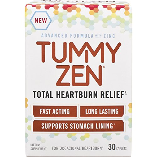 Tummy Zen Patented Zinc Formula Total Heartburn Relief, 30 Count