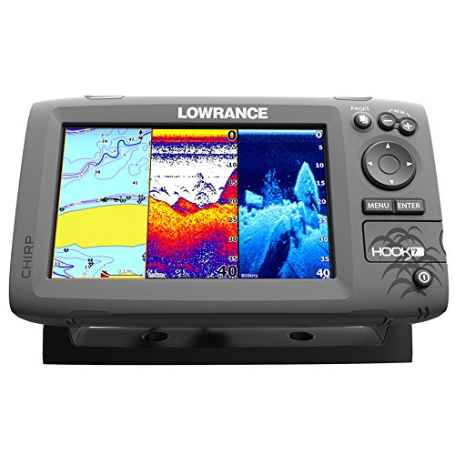 Lowrance hook 7 nav fishfinder chartplotter with no for Best rated fish finder