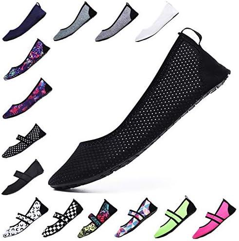 Gaodpz Femmes Aqua Chaussures Beach Wear Piscine Chaussures Pieds Nus Femme Pêche Chaussures de Sport d'eau Non-Slip Chaussures de Marche de l'eau Gray 1