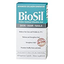 "Natural Factors, BioSil, ch-OSA Advanced Collagen Generator, 60 Veggie Caps by ""Natural Factors,"""