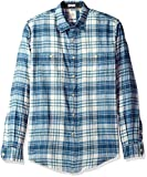 Dockers Men's Twill Long Sleeve Button Front Shirt,  Copen Blue, X-Large