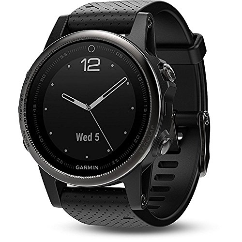 Click to buy Garmin Fenix 5S Sapphire - Black with Black Band - From only $596.95