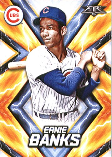 2017 Topps Fire #139 Ernie Banks Chicago Cubs Baseball Card