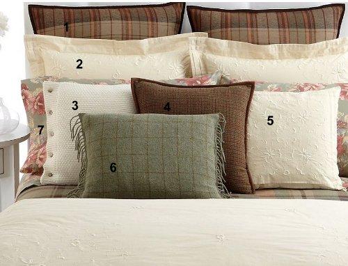 Cream Manor (Lauren by Ralph Lauren Shetland Manor Cream Square Pillow - Knit)