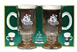 Irish Coffee Glasses with Handle, Set of 2