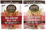 Cheap (2pc Combo Pack) Earth Animal No-Hide Beef Stix, 10ct (Beef) and Earth Animal No-Hide Salmon Stix, 10ct.